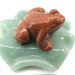 Frog on Lily Pad 1.5 Inch Figurine - Goldstone