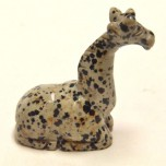 Giraffe Sitting 1.5 Inch Figurine - Dalmatian Dacite