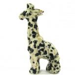 Giraffe Standing 1.5 Inch Figurine - Dalmatian Dacite