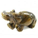 Hippo 1.5 Inch Figurine - Tiger Eye