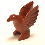 Hummingbird 1.5 Inch Figurine - Goldstone