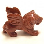 Lion with Wings 1.5 Inch Figurine - Goldstone