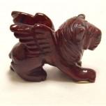 Lion with Wings 1.5 Inch Figurine - Rainbow Jasper