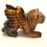 Lion with Wings 1.5 Inch Figurine - Tiger Eye
