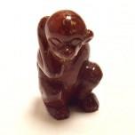 Monkey 1.5 Inch Figurine - Rainbow Jasper