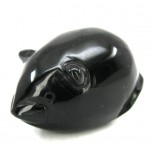 Mouse 1.5 Inch Figurine - Obsidian Black