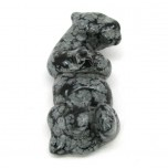 Otter 1.5 Inch Figurine - Snowflake Obsidian