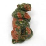 Otter 1.5 Inch Figurine - Unakite