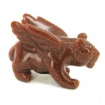 Panther with Wings 1.5 Inch Figurine - Goldstone