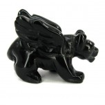 Panther with Wings 1.5 Inch Figurine - Obsidian Black