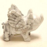 Pig Flying 1.5 Inch Figurine - Howlite White