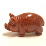 Pig Classic 1.5 Inch Figurine - Goldstone