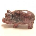 Pig Classic 1.5 Inch Figurine - Rhodonite