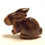 Rabbit (Hands Down) 1.5 Inch Figurine - Tiger Eye