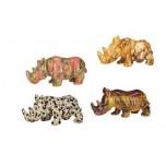 Rhino 1.5 Inch Figurine - Dalmatian Dacite