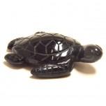 Sea Turtle 1.5 Inch Figurine - Obsidian Black