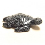 Sea Turtle 1.5 Inch Figurine - Snowflake Obsidian