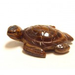 Sea Turtle 1.5 Inch Figurine - Tiger Eye