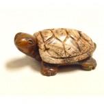 Turtle (Two Tone) 1.5 Inch Figurine - Picture Jasper