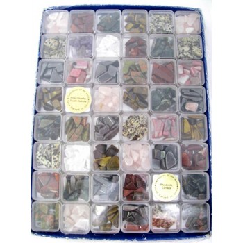Gemstone Chip in 30mm x 30mm Boxes with Golden Name Tag 48 piece pack