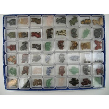 1 Inch Figurine Collection 1 Animal World - Assorted 48 piece pack