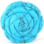 Rose 30mm Pendant - Howlite Turquoise