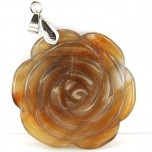 Rose with Bail Pendant - Agate