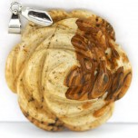 Rose with Bail Pendant - Picture Jasper