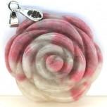 Rose with Bail Pendant - Rhodonite