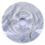 Donut 30mm Pendant - Silver Leaf Jasper