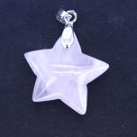 Star Pendant with Bail - Rose Quartz