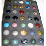 30mm Gemstone Sphere 35 piece Packs