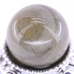 20mm Gemstone Sphere - Silver Leaf Jasper