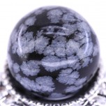 20mm Gemstone Sphere - Snowflake Obsidian