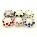Large Hole Bead 6 Piece Packs - Mixed Rhinestone Beads