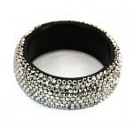 Crystal Rhinestone Fashion Bracelet - Silver