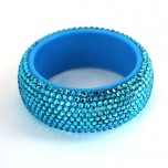 Crystal Rhinestone Fashion Bracelet - Sky Blue