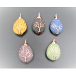 Teardrop style Volcanic Rock pendant - Assorted color available