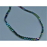 Magnetic Bead Strand - Multicolor Heart - 6x7mm