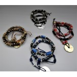 Crystal Bracelet 8 mm / 6 mm Faceted Bead - 3 pcs set - Several color available