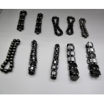 Hematite Magnetic Stretch Bracelet Assorted Styles 10 piece pack