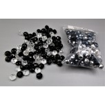 Bag 'O' Beads Assortment - Crystal Bead in Clear and Black color