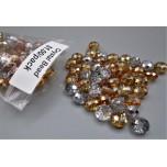 """Crystal Bead Pack - Clear / Orange (3"""" x 2.5"""" Zip Bag)"""