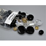 """Crystal Bead Pack - Mix Beads Style 5 (3"""" x 2.5"""" Zip Bag)"""