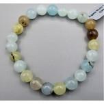 8 mm Gemstone Round Bead Bracelet - Agate Multi Color