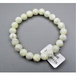 8 mm Gemstone Round Bead Bracelet - Shell
