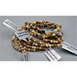 3 - 4 mm Gemstone Round Bead Bracelet - Crazy Lace Agate - 10 pcs Pack