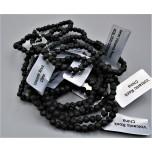 3 - 4 mm Gemstone Round Bead Bracelet - Volcanic Rock - 10 pcs Pack