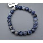 8 mm Gemstone Round Bead Bracelet - Dumortierite