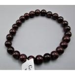 8 mm Gemstone Round Bead Bracelet - Garnet (7 - 8 mm)